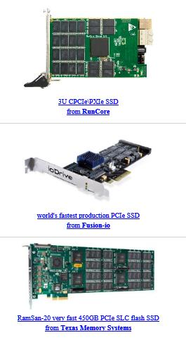 PCIe SSDs  - July 2010
