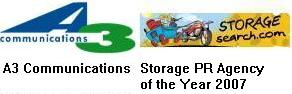 A3 Communications Storage PR Agency of the Year 2007