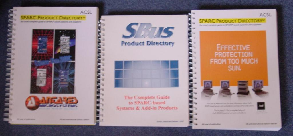 "Antares ad ""connect your sparc""  on cover of 1996 SPARC Directory (left)"