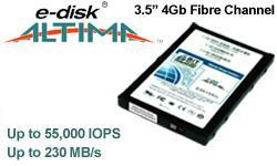 click to see details of historic product - 3.5 inch fibre-channel flash SSDs from  BiTMICRO Networks