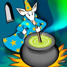 the wizard Spellabyte is stirring the potion - image for this article