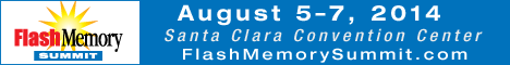 Flash memory Summit logo and date