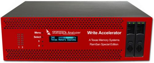 click for more info about the Write Accelerator - a very low latency true symmetric IOPS 3U rackmount SSD from Texas Memory Systems